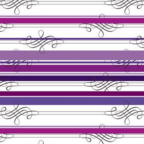 Flourish Purple Stripe