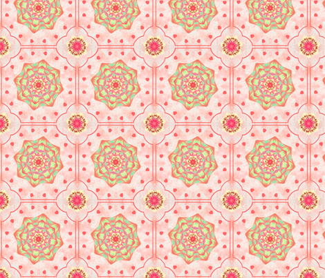 Edged_Flower_Red fabric by karwilbedesigns on Spoonflower - custom fabric