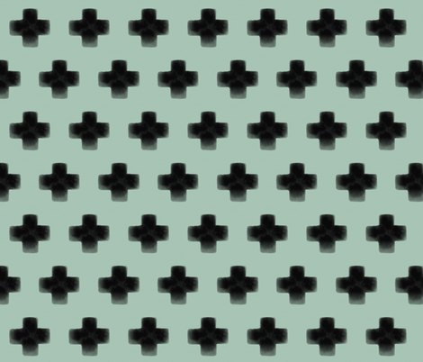 Swiss cross watercolor mint - gender neutral, modern || by sunny afternoon fabric by sunny_afternoon on Spoonflower - custom fabric