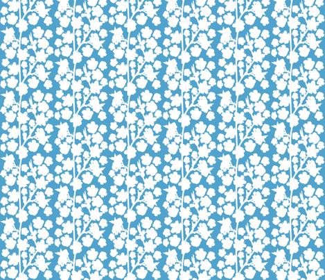 Spring_on_blue-ed fabric by ruthjohanna on Spoonflower - custom fabric