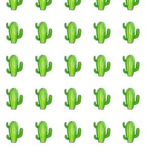 Green watercolour cactus