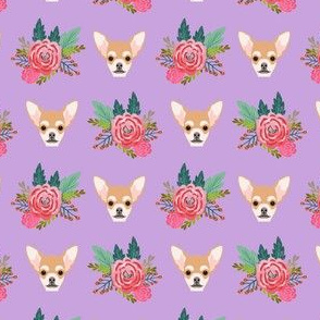 Chihuhua floral flowers flower cute dog baby girl nursery sweet pet dogs