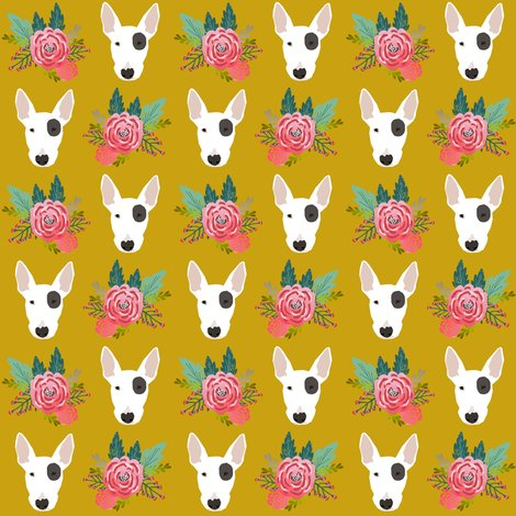 Rbull_terrier_floral_head_olive_shop_preview
