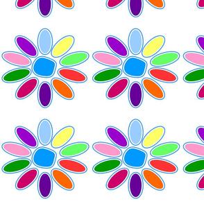 Colored Daisy Petals Tunic