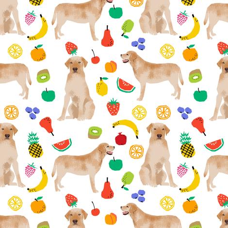 Labrador Retriever, yellow lab, lab dog, dogs, dog, fruit, summer, cute fun, food, novelty print fabric by petfriendly on Spoonflower - custom fabric