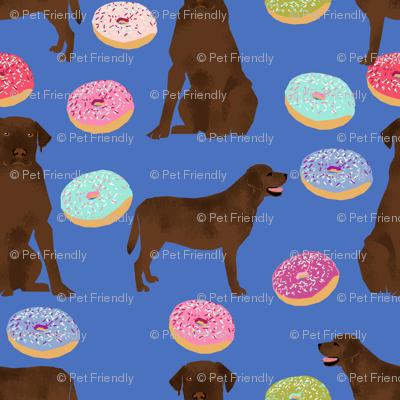 Chocolate Labrador, labrador retriever, chocolate lab dog, cute donuts, funny dog food, foods, novelty dog print