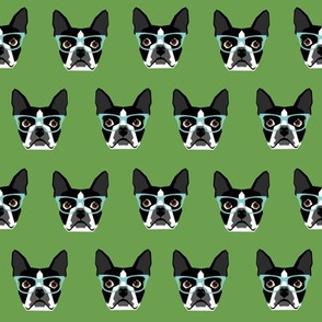 Boston Terrier glasses dog glasses cute dogs dog print for boston terrier owners fabric for boston terrier owners home dec textiles baby cute