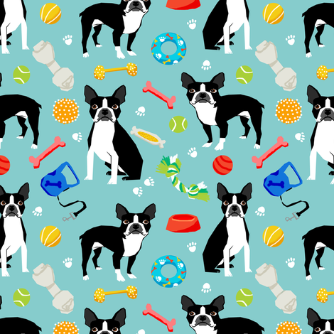 Boston Terrier toys, dog toy, cute dogs dog toys best dog fabric for home decor textiles apparel sewing baby cute nusery fabric by petfriendly on Spoonflower - custom fabric