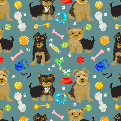 Yorkie toys, yorkshire terrier, yorkshire terriers, cute dogs, dog toys, best dog fabric cute dog designs for yorkie owners fabric by petfriendly on Spoonflower - custom fabric