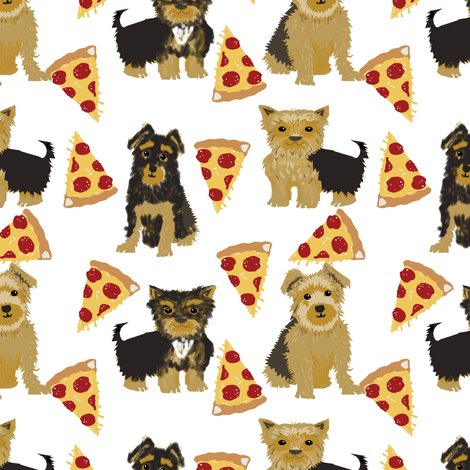 Yorkie Pizza Yorkshire Terriers Pizza Funny Cute Dog Novelty Food