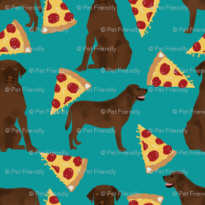 Chocolate labrador, labrador retriever, lab, chocolate lab, pizza, food, pizzas, novelty, foods
