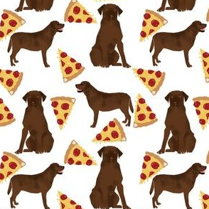 Chocolate labrador, labrador retriever, lab, chocolate lab, pizza, food, pizzas, novelty, foods