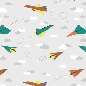 Paper plane (pastel)