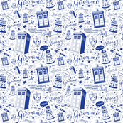 The Doctor: Blue 45% of full size