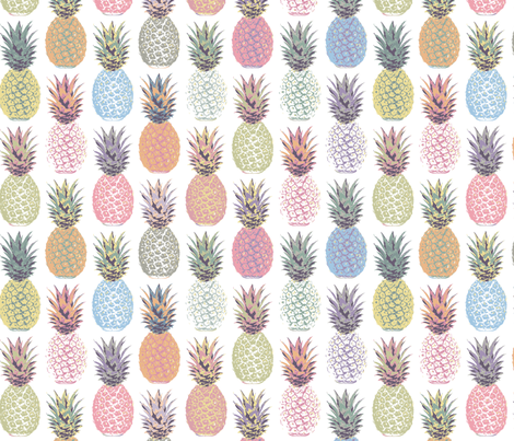 Pineapple Summer  fabric by mariafaithgarcia on Spoonflower - custom fabric