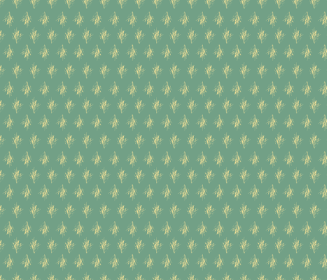 Sprouts_teal-yellow fabric by beverlyjane on Spoonflower - custom fabric