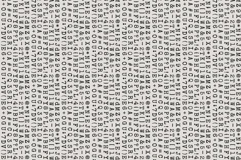 Vintage Typewriter  fabric by artsyandi on Spoonflower - custom fabric