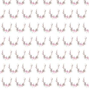 Watercolor Floral Antlers