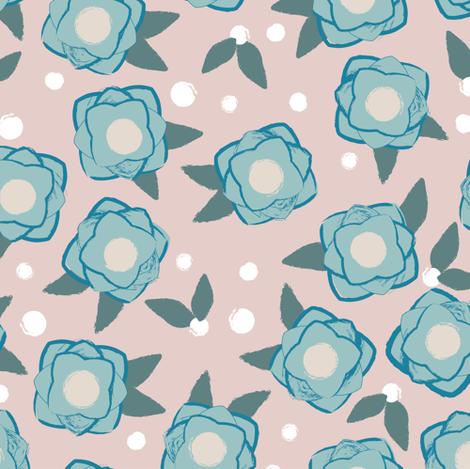 Flower POP pink fabric by lburleighdesigns on Spoonflower - custom fabric