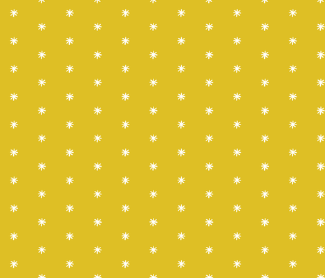 Small_Asterisk_Mustard_White fabric by bobatieboo_ on Spoonflower - custom fabric
