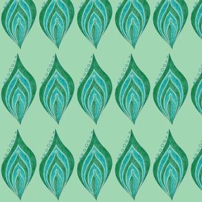 Leaf Pearls In a Row Green 2