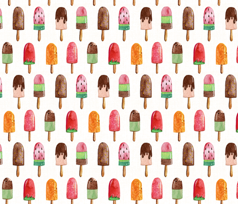 Watercolor Popsicles - Light Yellow Texture fabric by heatherhightdesign on Spoonflower - custom fabric
