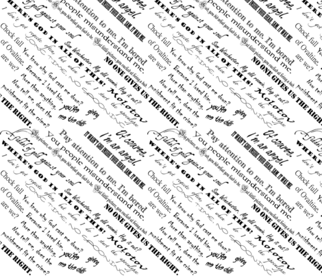 Lucifer Quotes on White fabric by castiel's_angels on Spoonflower - custom fabric