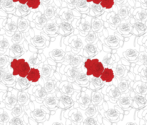 Paint the Roses Red  fabric by jayhutch on Spoonflower - custom fabric