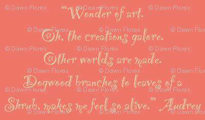 Wonder of Art (Coral)