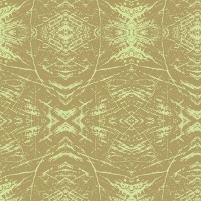 Tree Rings (Green Taupe & Lime)