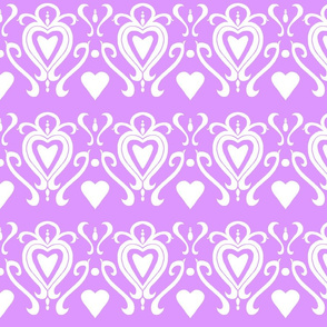 Heart Damask 4- Purple