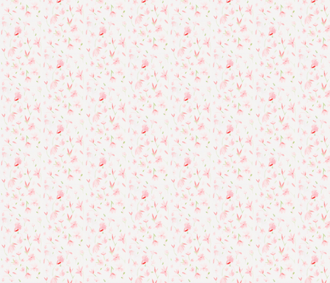 Pink Flowers fabric by shaylala on Spoonflower - custom fabric