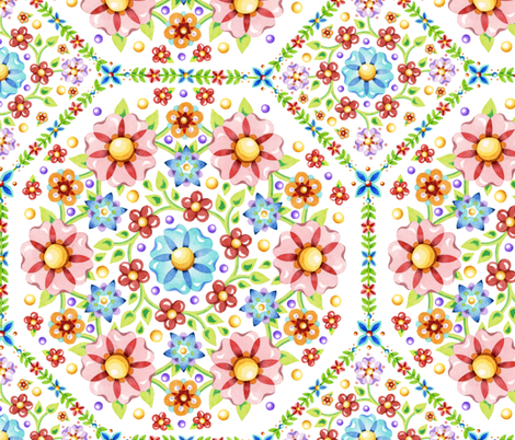 Millefiori Floral  fabric by patriciasheadesigns on Spoonflower - custom fabric