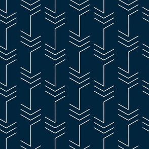 Arrow Chevron on Dark blue