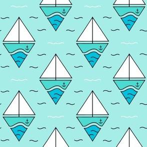 Boats in diamond shape on Mint