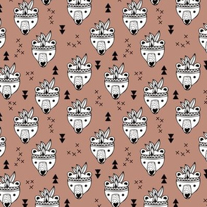 Cool geometric Scandinavian winter style indian summer animals little baby grizzly bear brown XS
