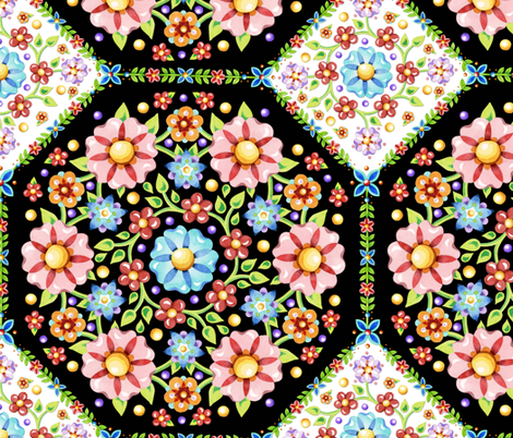 Millefiori Tile Pattern fabric by patriciasheadesigns on Spoonflower - custom fabric