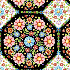 Millefiori Tile Pattern