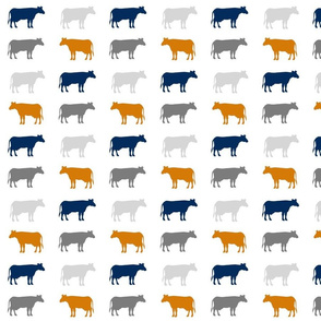 cows gray navy orange