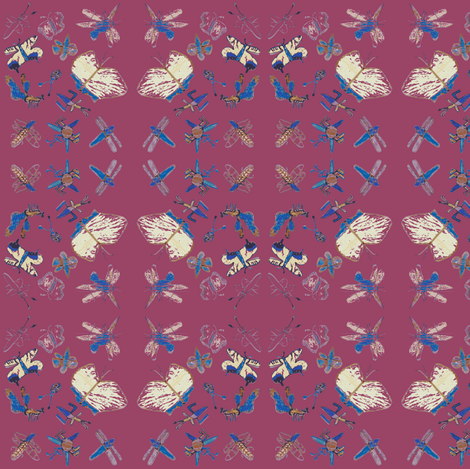 Buggy Bugs (Raspberry) fabric by forestprojectkids on Spoonflower - custom fabric