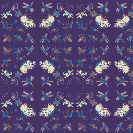 Buggy Bugs (Purple) fabric by forestprojectkids on Spoonflower - custom fabric