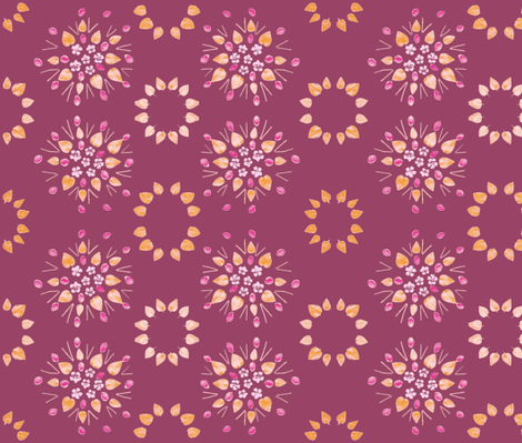 Periwinkle & Peach Pits (Raspberry) fabric by forestprojectkids on Spoonflower - custom fabric
