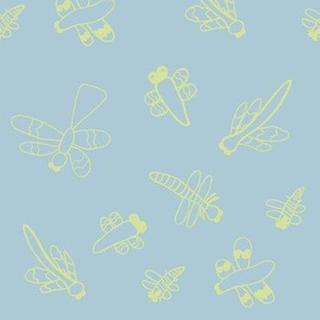 Dragonflies (Light Blue)