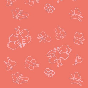 Butterflies (Coral)