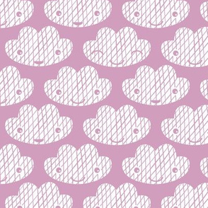 Soft clouds sweet dreams kawaii sparkle sky soft lilac