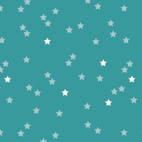 Soft stars good night sweet dreams sparkle blue gender neutral