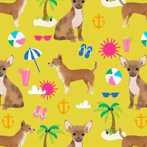 chihuahua beach yellow kids cute summer beach pet dogs dog chihuahua pet dog  tropical palm tree