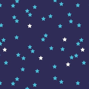 Blue stars good night sweet dreams sparkle navy aqua