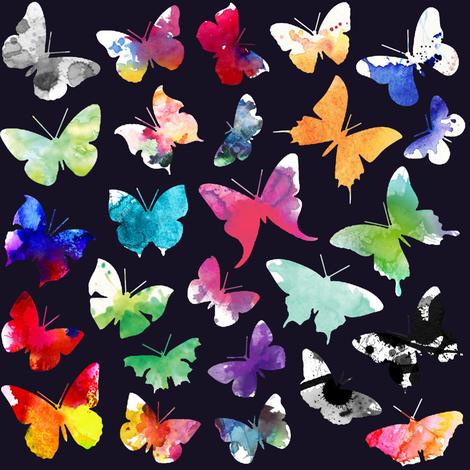 Watercolour Butterflies fabric by mmarie-designs on Spoonflower - custom fabric