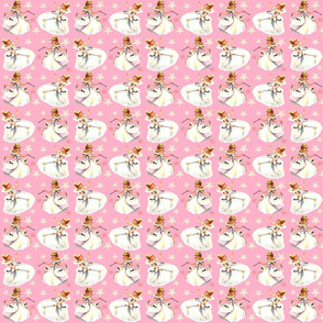 Pink Christmas Fairy Queen Pink Stars